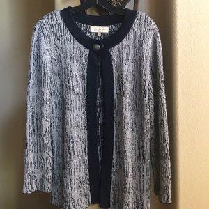 Jones New York Knit Cardigan Sweater L